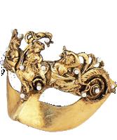 Venetian Masquerade Mask Baroque Gold