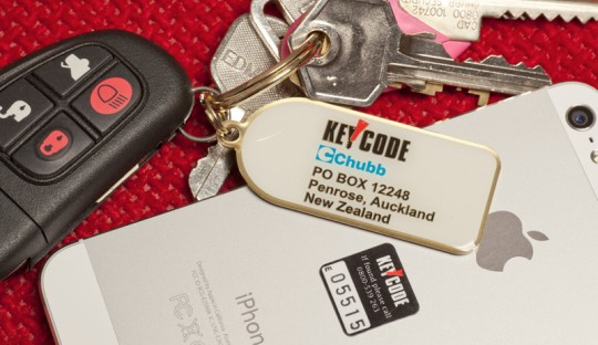 Remain secure with our  coded key & cell phone tags.