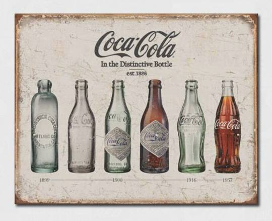 Tin Sign Coca Cola Bottle since 1839