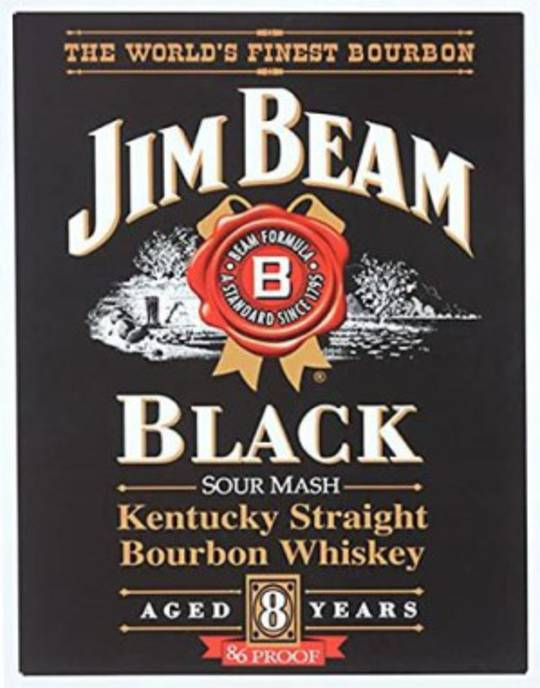 Tin Sign Jim Beam Black