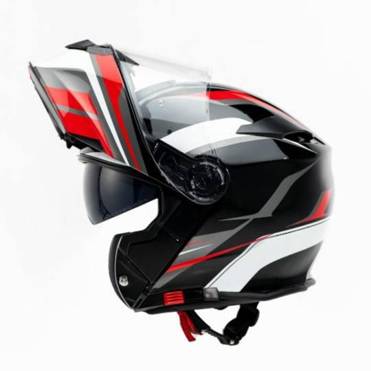 TORQ Flip front RWB Graphic Helmet with Pinlock