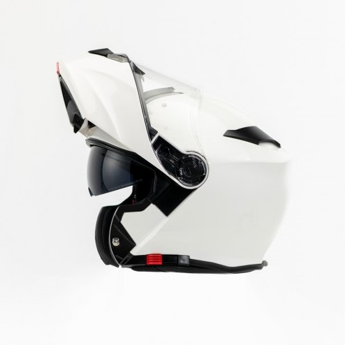 TORQ Flip front White Helmet with Pinlock