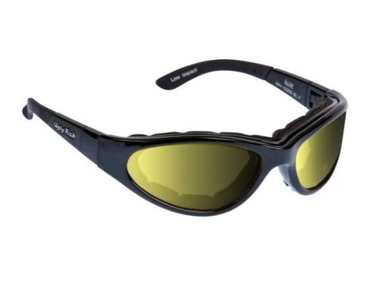 Ugly Fish GLIDE Matt Black w Photochromic Yellow Lens