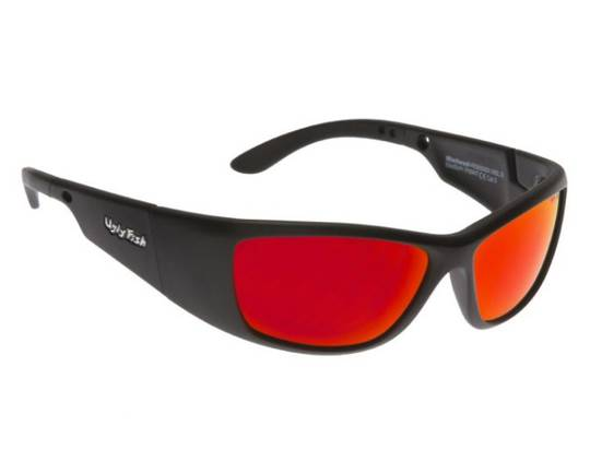 Ugly Fish Warhead Matt Black w Red Lens
