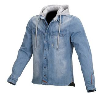 MACNA Denim mens motorcycle jacket - lt blue