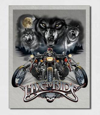 Tin Sign Ride Free Wolves
