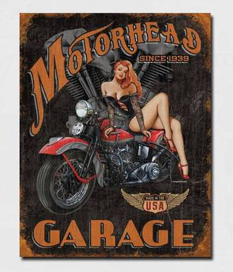 Tin Sign Motorhead Garage