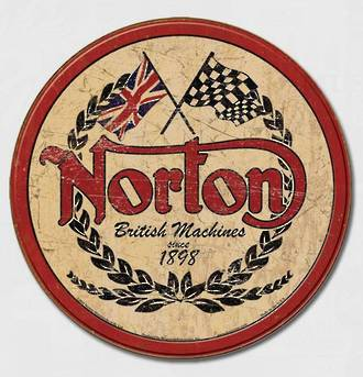 Tin Sign Norton Round