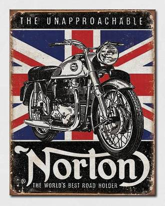 Tin Sign Norton Unapproachable