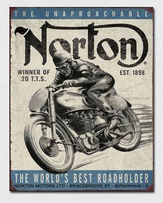 Tin Sign Norton TT Winner