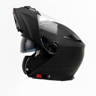 TORQ Flip front Matt Black Helmet with Pinlock