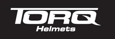 torq helmets logo wht on blk