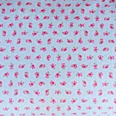 Fabric Swatch Colour Me Pretty Blue Cotton Print