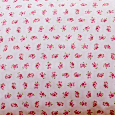 Fabric Swatch Colour Me Pretty Pink Cotton Print