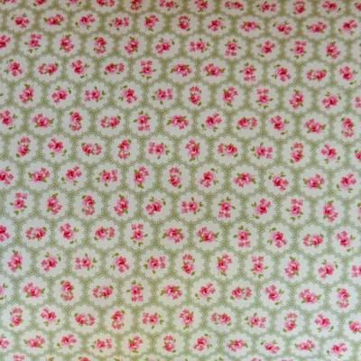 Fabric Swatch Sweet Sage Vintage Lace Cotton Print