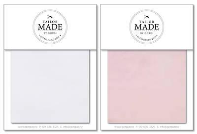 Tailor Made by Gorgi Duvet Cover: White/Pink