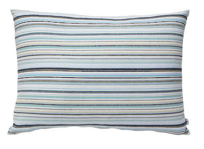 Vintage Retro Turquoise & Navy French Stripe with Sky Blue Drill Backing