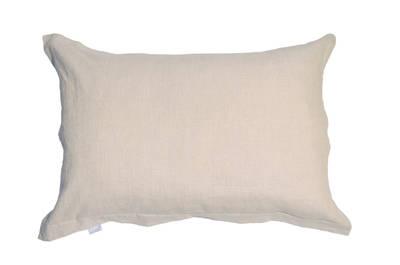 Pair of Old World Gorgi Natural Linen Cotton Oxford Pillowcases