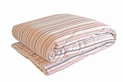 Vintage Retro Navy and Red French Stripe Cot Duvet Cover