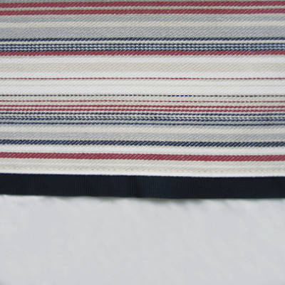 Navy and Red French Stripe Cuff with Navy Gros Grain Cot Flat Sheet