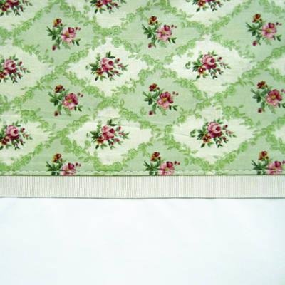 Vintage Pattern Sage Cuff with Beige Gros Grain Cot Flat Sheet