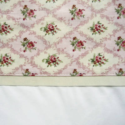 Vintage Pattern Pink Cuff with Beige Gros Grain Cot Flat Sheet