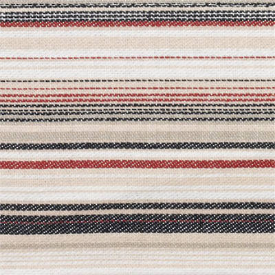 Vintage Retro Navy Red Stripe Bed Wrap/Valance