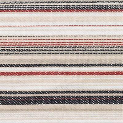 Vintage Retro Dark Navy with Red and Navy French Stripe Duvet Cover ( Full Stripe)
