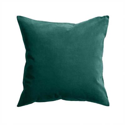 Gorgi Oversized Velvet Cushion in Emerald with Linen Backing