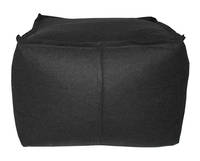 Gorgi Ottoman in Charcoal Wool
