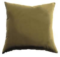 Gorgi Oversized Velvet Cushion in Moss with Linen Backing