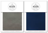 Tailor Made by Gorgi Duvet Cover: Metal/Cobalt