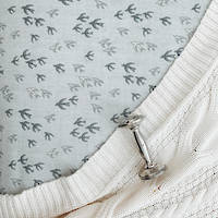 Gorgi Sweet Swallows Cotton Print Cot Fitted Sheet