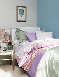 Gorgi Paper Doll Lilac and Raspberry Stripe Pillowcase