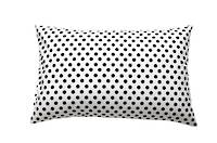 Gorgi 100% Cotton White with Black Spot Pillowcase