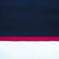 Navy Cuff with Scarlet Gros Grain Cot Flat Sheet