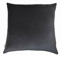 Gorgi Oversized Velvet Cushion in Charcoal with Linen Backing