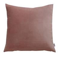 Gorgi Oversized Velvet Cushion in Mushroom with Linen Backing