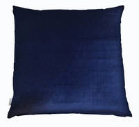 Gorgi Oversized Velvet Cushion in Dark Navy with Linen Backing
