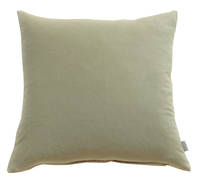 Gorgi Oversized Velvet Cushion in Taupe with Linen Backing