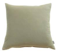 Gorgi Oversized Velvet Cushion in Taupe with Linen Backing