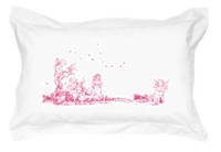 Gorgi 100% White Cotton Oxford Pillowcase with Fairy Print