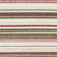 Vintage Retro Khaki Red Stripe Bed Wrap/Valance: Single