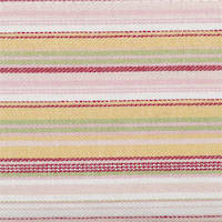 Vintage Retro Pink and Lime Stripe Bed Wrap/Valance