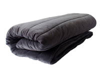 Gorgi Super Soft Velvet Channel Quilted Throw in Charcoal - Queen