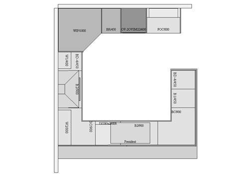 Open Plan Kitchen Plan