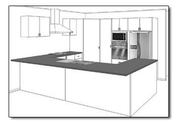 Open Plan Kitchen View