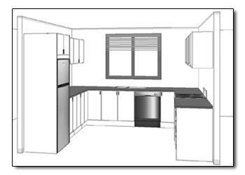 U Shaped Kitchen layout View