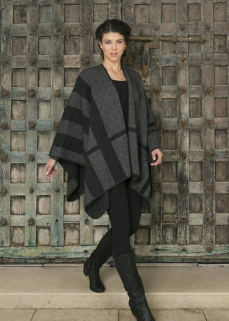 Ladies' Check Block Cape