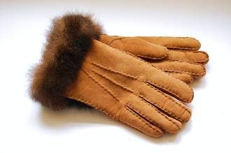 Ladies' Possum-trimmed Lambskin Gloves